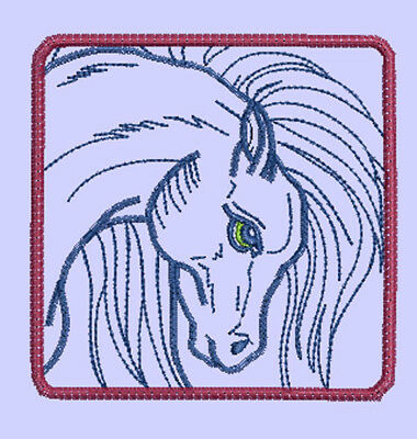 HORSE BLOCKS - 24 MACHINE EMBROIDERY DESIGNS 12 in 4x4 and 12 in 5x7 hoop size