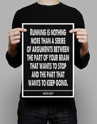 running quote wall art poster gift inspiration exercise excercise gym marathon