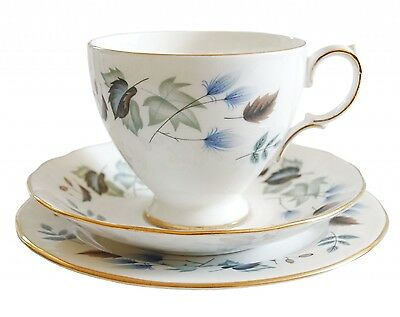 Vintage Colclough Linden Tea Cup, Saucer and Tea Plate