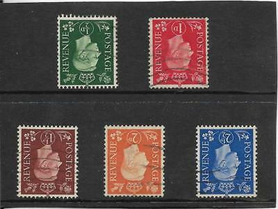 GB. 1937-47. 1/2d to 21/2d. AVERAGE USED WITH INVERTED WATERMARKS. (60)