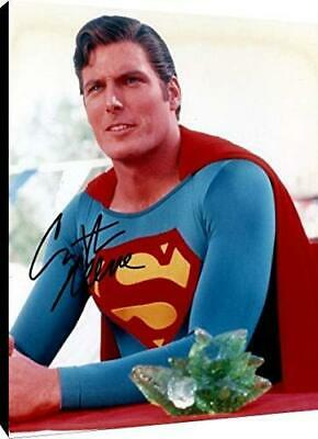 Christopher Reeves Autograph Replica Print Canvas Wall Art - Superman