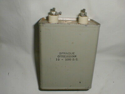 NOS Sprauge Oil Capacitor, 10 Mfd. 1,000 Volts D.C. W.E. Amplifiers