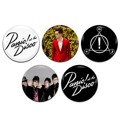 5X PANIC! AT The Disco Band Emo Rock Punk 25mm / 1 Inch D Pin Button Badges