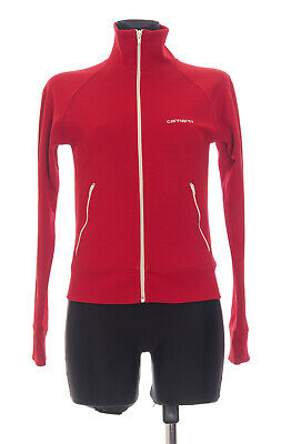 Carhartt Womens Red long sleeved Zip Front Tracksuit Top Size Small