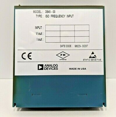 ANALOG DEVICES 3B40-00 ISOLATED WIDEBAND MV INPUT MODULE 3B4000
