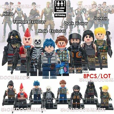 Minifigure Fortnite Lego Printed 8pcs Custom RS5Ac34jLq