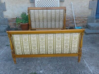 French antique vintage double sleigh bed