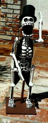 Day Of The Dead Large Bride Groom Paper Mache Hand Made Mexico W/ Free Shipping