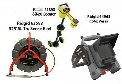 Ridgid 325' Color SL TS Reel(63583) SeekTech SR-20 (21893) CS6x Versa (64968)