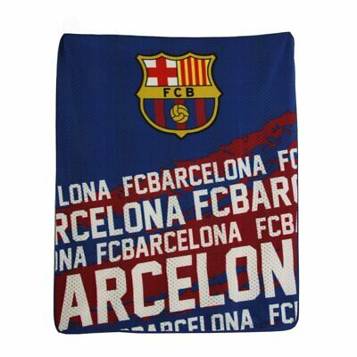 "FC BARCELONA OFFICIALLY LICENSED FLEECE BLANKET 60"" x 50"" FREE SHIPPING USA"