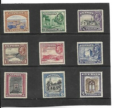 CYPRUS 1934 SHORT SET TO 9pi. MH. SG.133-141.  (160)