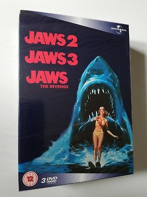 Jaws 2 / Jaws 3 / Jaws The Revenge - DVD New/Sealed - 3 DVD Box Set
