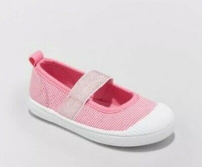Toddler Girls' Bea Canvas Mary Jane Sneakers - Cat & Jack Pink Striped Slip On 5