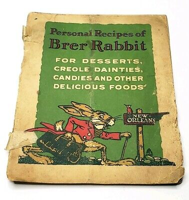 PERSONAL RECIPES OF BRER RABBIT Molasses Penick & Ford New Orleans