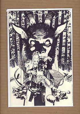 Hellboy Krampusnacht #1 Adam Hughes VIRGIN  B&W Pencil Variant Cover NM-