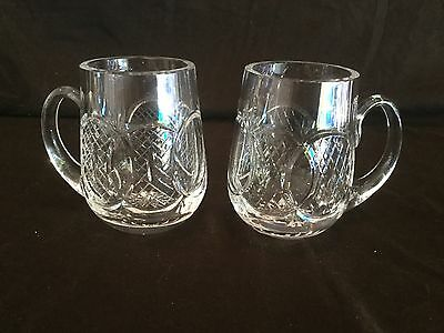 Set Of 2 Waterford Crystal Giftware Mugs/Tankards/Glasses
