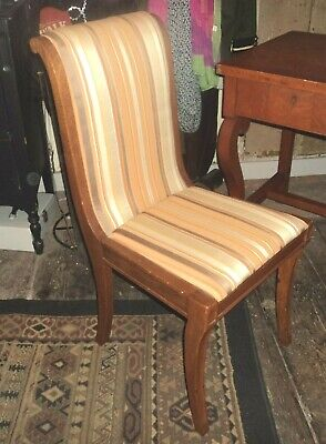 Antique 1900's Statesville Victorian Tiger Golden Oak Wood Dining Desk Chair