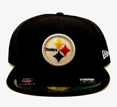 920ea078efdd6d Pittsburgh Steelers New Era 59Fifty Fitted Hat Cap NFL On Field Adult Size  7 1/
