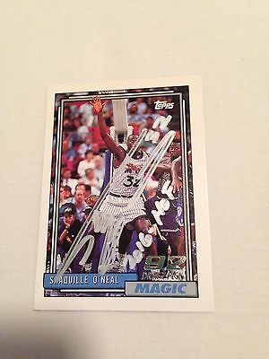 Shaquille O'Neal HAND SIGNED w/HOF 2016, 1992 Topps ROOKIE  w/COA