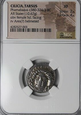 Satrap Of Cilicia Tarsus Pharabazus 380-373 BC Silver Stater NGC XF Ancient Coin