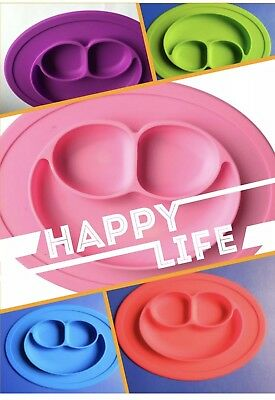 Baby Girl Snack Mat Silicone Non Slip Happy Toddler Placemat Plate Tray Stay put