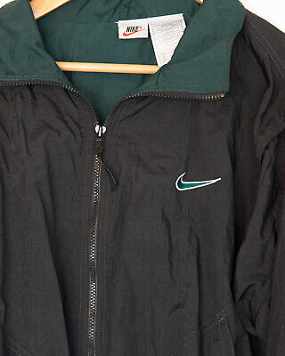 Vintage Nike Tracksuit jacket, black and dark green, lined, men's size XXL