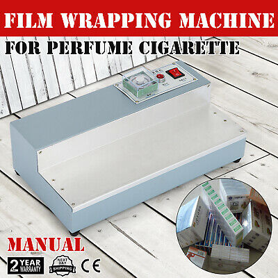 220V Cigarette Perfume Box Cellophane Wrapping Machine Hand US Blister ON SALE