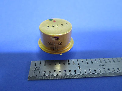 RARE ISRAEL TFL QUARTZ GOLD COLD WELDED HC-40 FREQUENCY 5 MHz SC 5th STANDARD