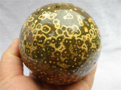 1340g Natural Ocean Jasper Quartz Sphere Crystal miracle sea stone Ball Healing