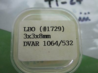 OPTICAL CSK NON LINEAR CRYSTAL NLO LBO TYPE 3x3x8 mm LASER OPTICS BIN#T1-28