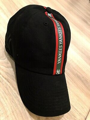 000c3a7e0a853f New York Yankees New Era 47 Brand Black Hat Yankee Green/red Preowned