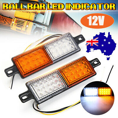 Pair Bullbar Front 30LED Position Indicator 10-30V Park Light Submersible Lamp