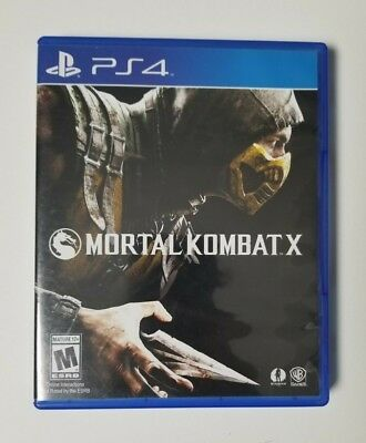 Ps4 Mortal Kombat X Replacement Case - No Game