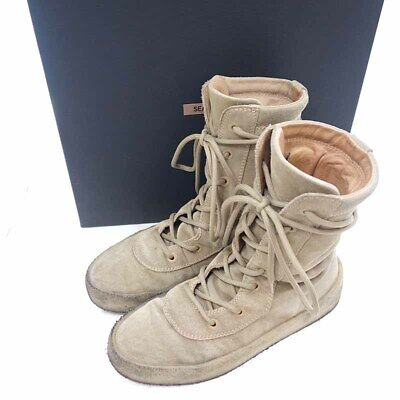 809a9ddc2a1 YEEZY SEASON 4 CREPE BOOT Lace-up suede crepe sole boo Beige
