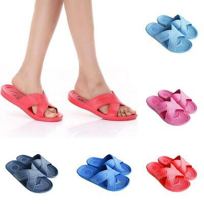 Womens Slip On Sandals Bow Flat Mule Summer Sliders Espadrille Shoes Sizes T99