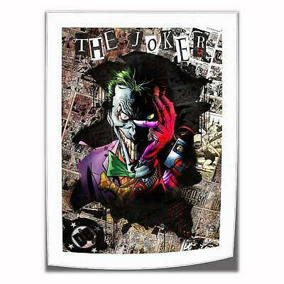 "The Joker Poster Home Decor HD Canvas prints Picture Wall art Painting 16""x22"""