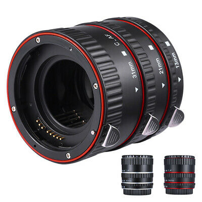 Macro Extension Tube Ring Auto Focus For Canon EOS Camera EF EF-S Lens Parts New