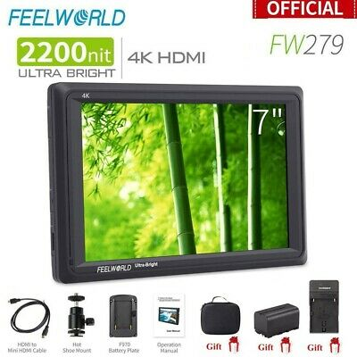 Feelworld FW279 7'' Ultra Bright 2200nit Daylight Viewable Field Monitor 4K HDMI