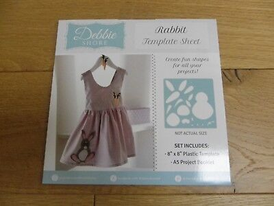 Rabbit Crafters Companion Sew Inspired Debbie Shore Template Sheet SALE