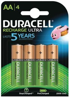 4 Piles rechargeables DURACELL HR06 AA 2500 mAh