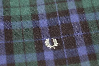 Fred Perry UK, 100% Lambswool, Black Watch Tartan Scarf