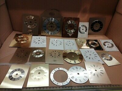 Replacemet carriage clock faces spare crafting various sizes clock repair joblot
