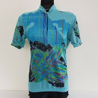 Santini Vintage Cycling Jersey Long Sleeve XL Blue Yellow New with tags retro