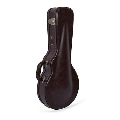 Crossrock CRW600M Deluxe Wood Hard F/A-style Mandolin Case,Black , Tweed & Brown