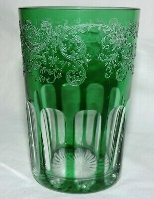 Verre Gobelet A The  En Cristal De St Louis Couleur Vert Rabbat
