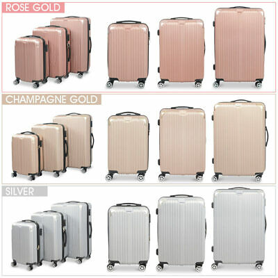 b9b23409d 3 Pcs Luggage Set Hard Side Traveling Suitcase Lightweight Spinner W/ 3  Covers