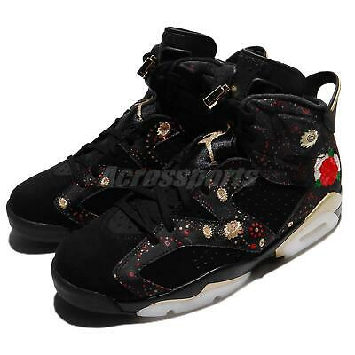 4192eaa02faa9a Nike Air Jordan 6 Retro CNY VI Chinese New Year Black Gold Men Shoes AA2492-
