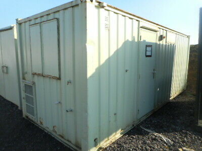 21' x 8' anti vandal office portable building site shipping container £2300+VAT