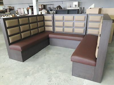 Wooden Booth bench seating sofa clasic vintage restaurant cafe pub Bespoke