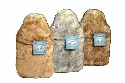 Gorgeous Luxury Animal Fur 2 Litre Hot Water Bottle & Cover In 3 Colours/Designs